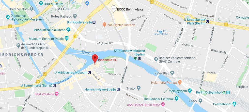 Standort der innoscale AG auf der Karte von Google Maps