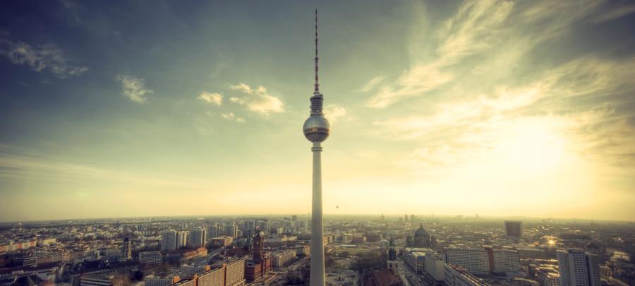 Berlin Aufnahme aus der Luft