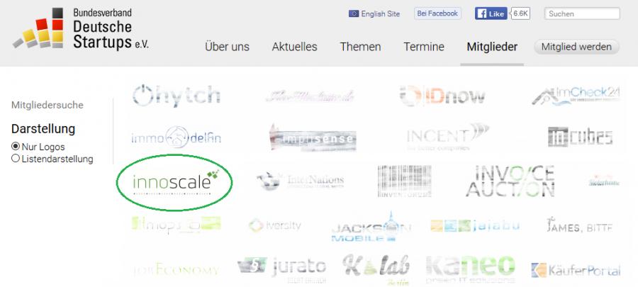 Bundesverband Deutsche Startups: innoscale AG