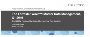 Quelle: The Forrester Wave™: Master Data Management, Q1 2016