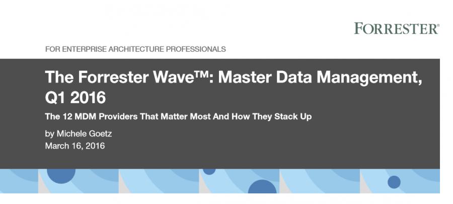 Quelle: The Forrester Wave™: Master Data Management, Q1 2016