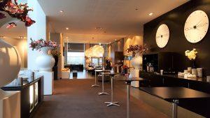 Lobby des Van der Valk Airporthotel Düsseldorf, in dem das Stammdaten Management Forum des Euroforum 2017 stattgefunden hat