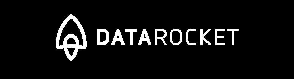 DataRocket Logo Weiß