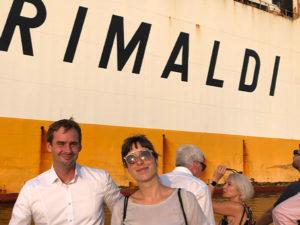 Tobias Brockmann & Nadja Schröder auf der Hafenrundfahrt